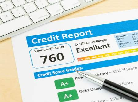 credit score on report for buying a home
